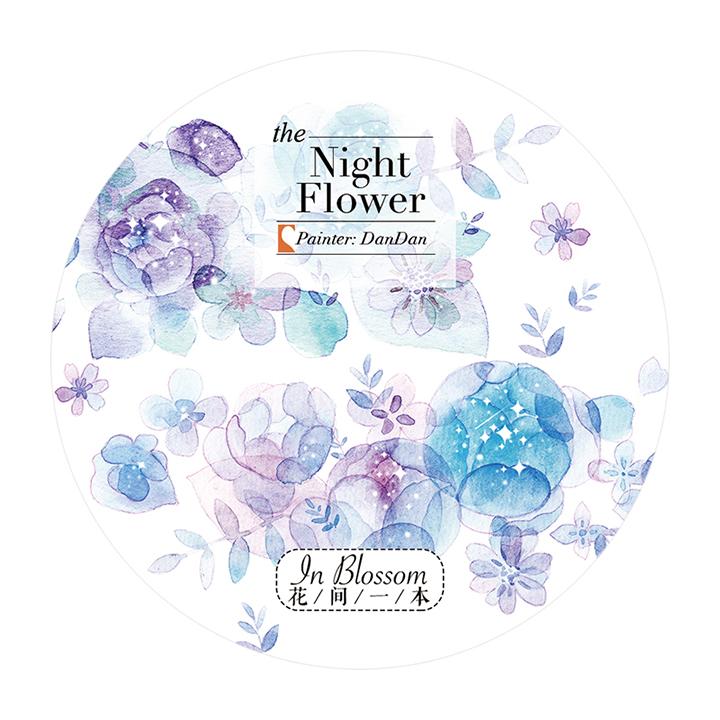 《ご予約商品・12月入荷予定》花間一本マスキングテープ Night Flower【宅急便配送】