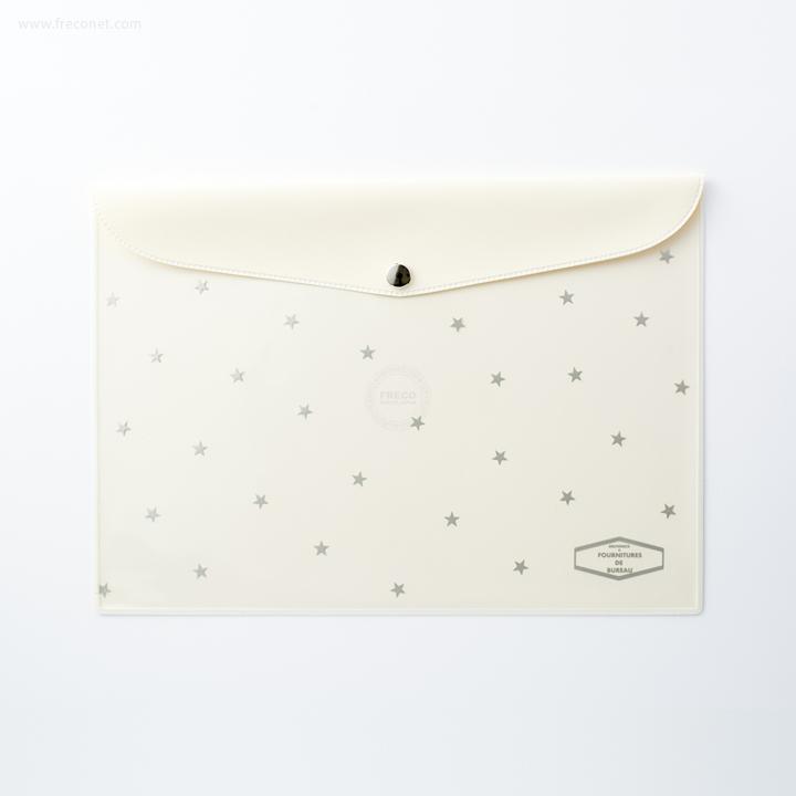 ビニールブリーフケース スターS クリーム(500559 180)【ネコポスOK】