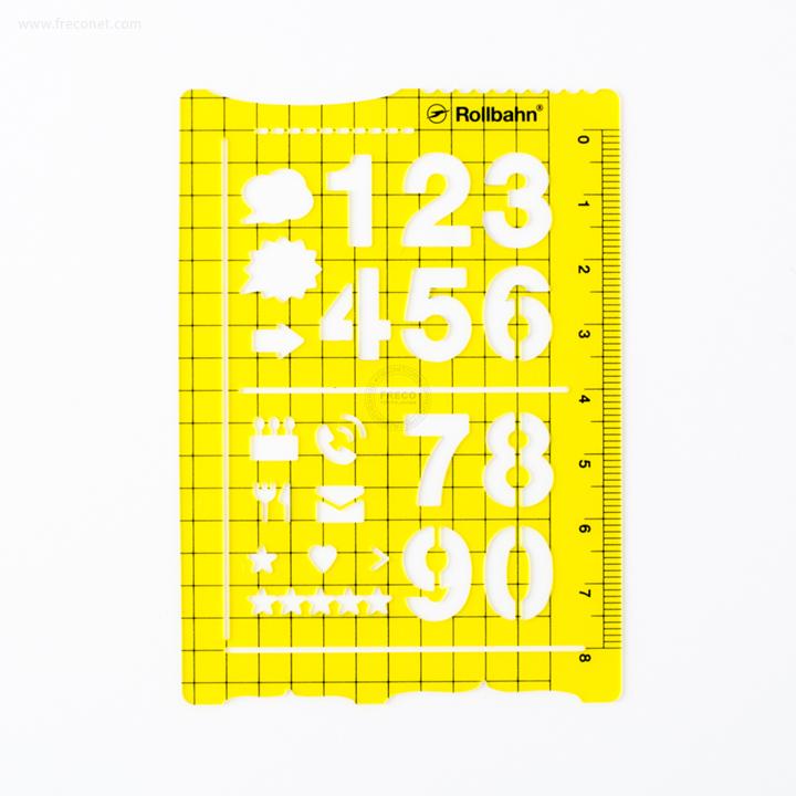 ロルバーンテンプレート ポケット付きメモL用 クリアイエロー(500607-718)【ネコポスOK】