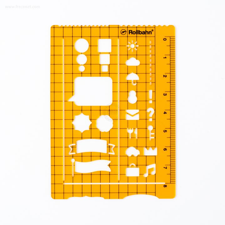 ロルバーンテンプレート ポケット付きメモL用 クリアオレンジ(500607-744)【ネコポスOK】