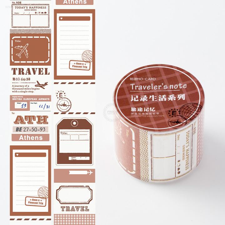 ライフログペーパーテープ剥離紙付き Traveler's Note【宅急便配送】