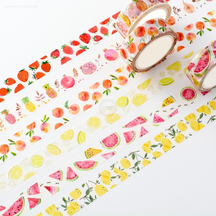 水彩フルーツマスキングテープおまとめパック 全6種類【ネコポスOK】
