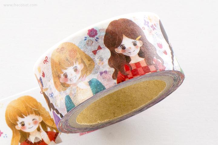 星空百貨マスキングテープ おめかし女の子(HH-YK05)【ネコポスOK】