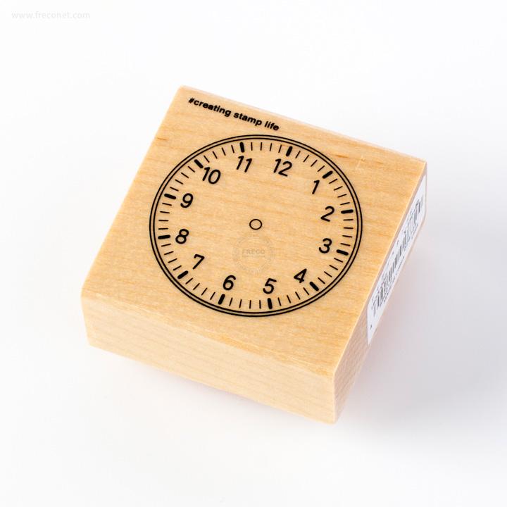 こどものかお 手帳スタンプ 時計(F1633-002)【ネコポスOK】