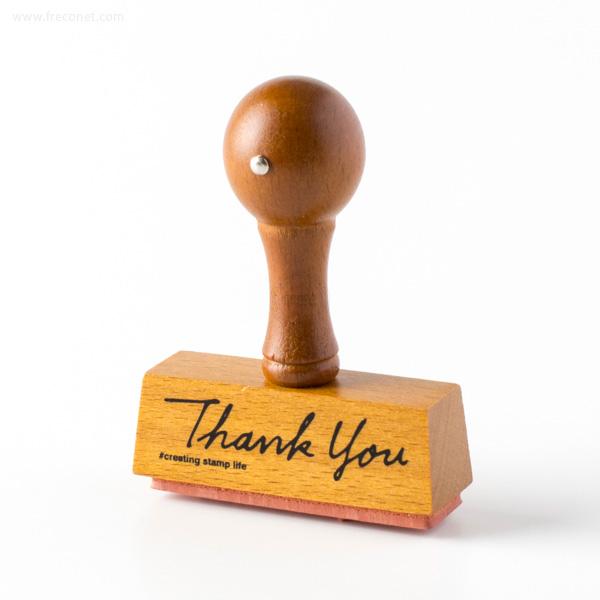 手帳スタンプ こどものかお ハンドルスタンプ Thank you(1641-002)【ネコポスOK】