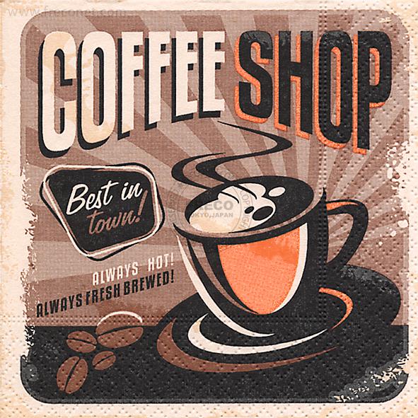 Paper+Design ペーパーナプキン <カクテル> Coffee shop(100081)【宅急便配送】