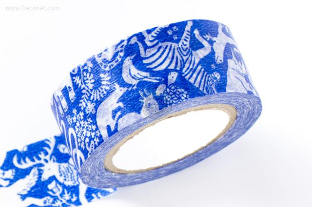 ミハニ書林マスキングテープ なかま ブルー(13101-03)【ネコポスOK】