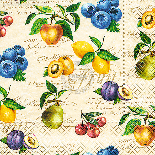 Paper+Design ペーパーナプキン <ランチ> Vintage fruits(200042)【宅急便配送】