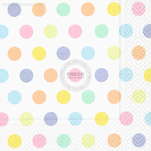 Paper+Design ペーパーナプキン <ランチ> Pastel dots(200119)【宅急便配送】