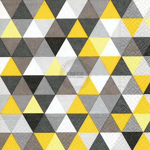 Paper+Design ペーパーナプキン <ランチ> Triangles yellow/black(200122)【宅急便配送】