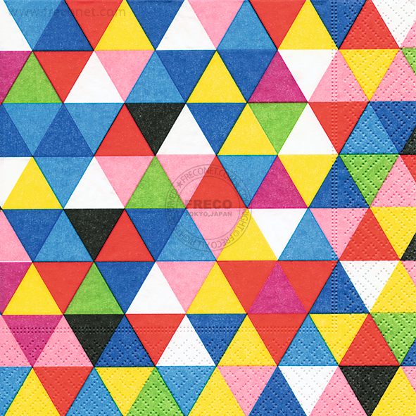 Paper+Design ペーパーナプキン <ランチ> Triangles multi(200123)【宅急便配送】