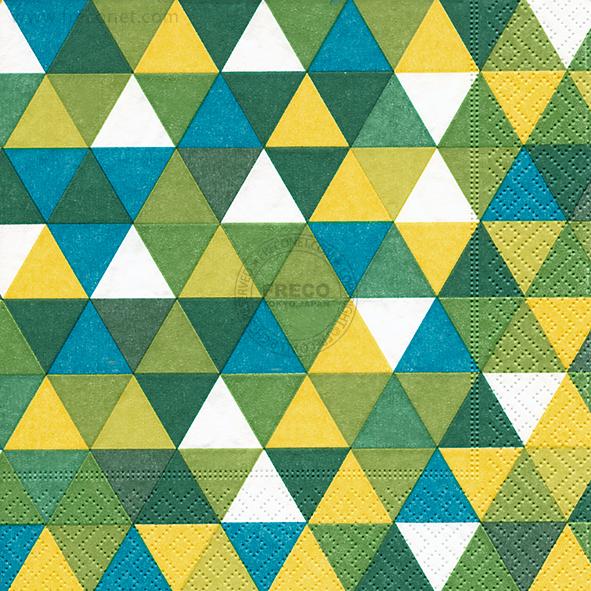 Paper+Design ペーパーナプキン <ランチ> Triangles green(200124)【宅急便配送】