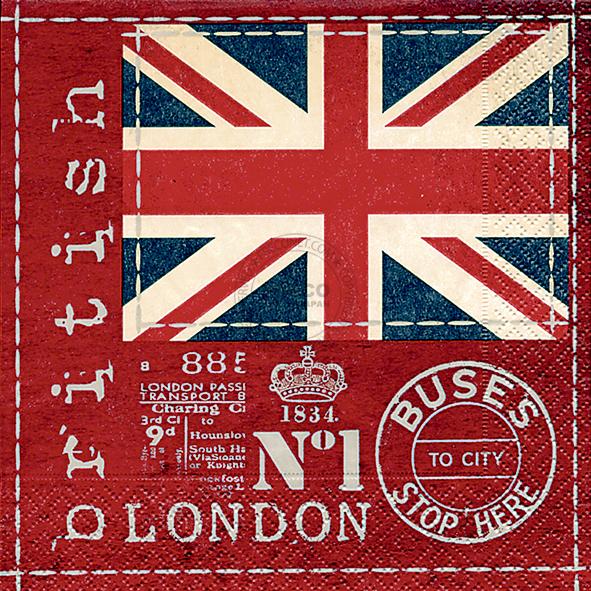 Paper+Design ペーパーナプキン <ランチ> British flag(21682)【宅急便配送】