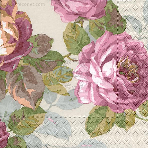Paper+Design ペーパーナプキン <ランチ> La mer de fleurs(21881)【宅急便配送】