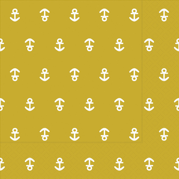 Paper+Design ペーパーナプキン <ランチ> Anchor mustard(21980)【ネコポスOK】