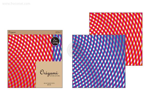 オリガミ <15角> メタリック リボン柄(34402-006)【ネコポスOK】