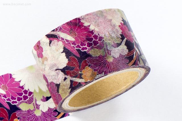 撫松庵マスキングテープ 牡丹に菊と桜(58-0912)【宅急便配送】
