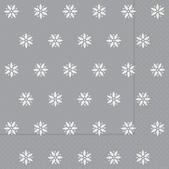 Paper+Design ペーパーナプキン <ランチ> Snowflakes silver(60926)【宅急便配送】