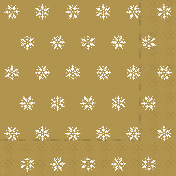 Paper+Design ペーパーナプキン <ランチ> Snowflakes gold(60927)【宅急便配送】