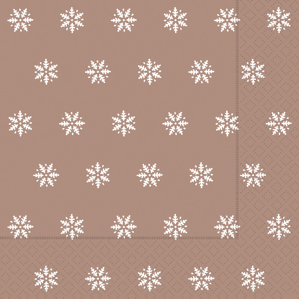 Paper+Design ペーパーナプキン <ランチ> Snowflakes copper(60928)【宅急便配送】