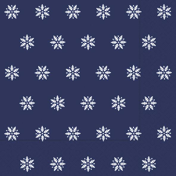 Paper+Design ペーパーナプキン <ランチ> Snowflakes dark blue(60932)【ネコポスOK】