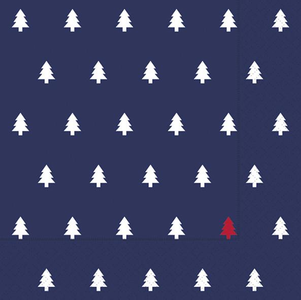 Paper+Design ペーパーナプキン <ランチ> Trees dark blue(60944)【ネコポスOK】