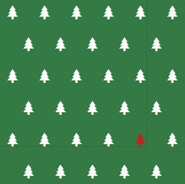 Paper+Design ペーパーナプキン <ランチ> Trees green(60946)【ネコポスOK】