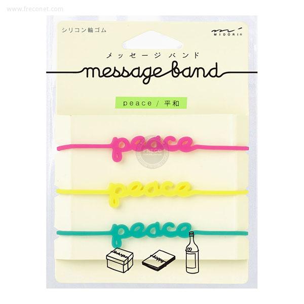 メッセージバンド ピース柄(62306)【メール便OK】