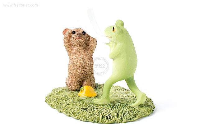 Copeau たたいてかぶってをするカエルとクマ(70570)【宅急便配送】