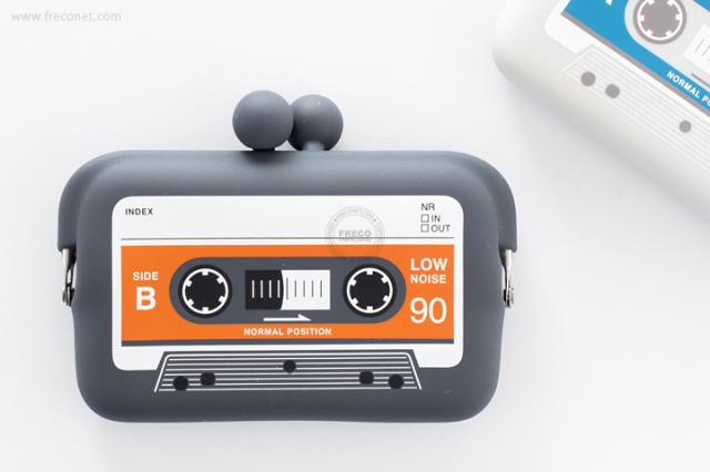カセットテープ型がまぐちカードケース【ネコポスOK】