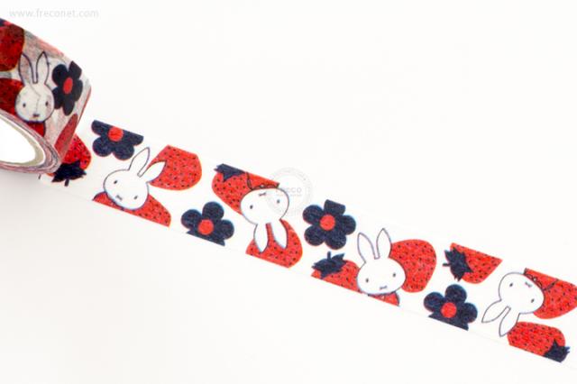 ミッフィーマスキングテープ miffy strawberry(A17BMSTR)【クロネコDM便OK】