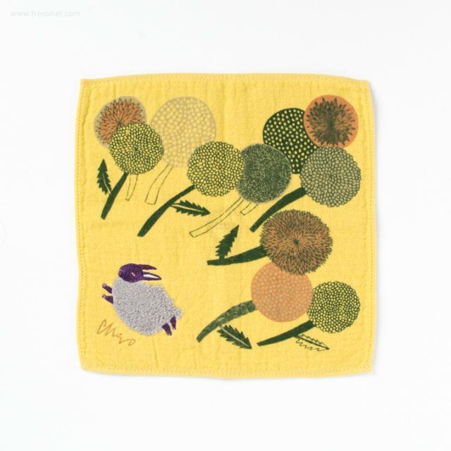 moritaMiW モコモコドウブツハンカチタオル 草原ウサギ(A-64789-86-Y)【ネコポスOK】