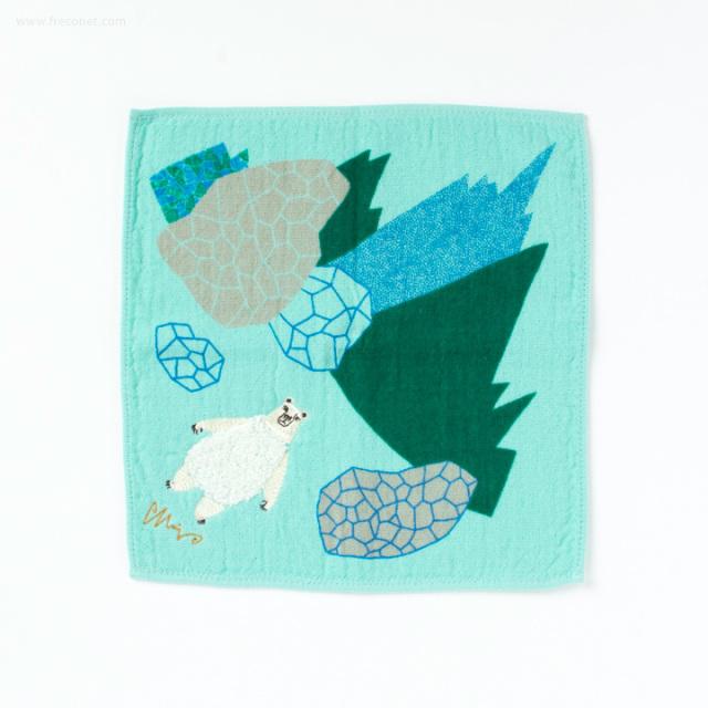 moritaMiW モコモコドウブツハンカチタオル 氷原シロクマ(A-65591-86-G)【ネコポスOK】