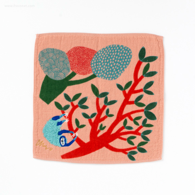 moritaMiW モコモコドウブツハンカチタオル 樹林ナマケモノ(A-67069-86-SP)【ネコポスOK】