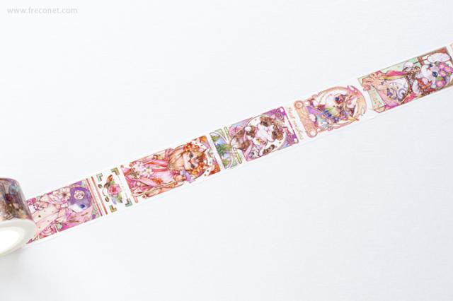 自己印マスキングテープ Maocha rose gold stamp【クロネコDM便OK】