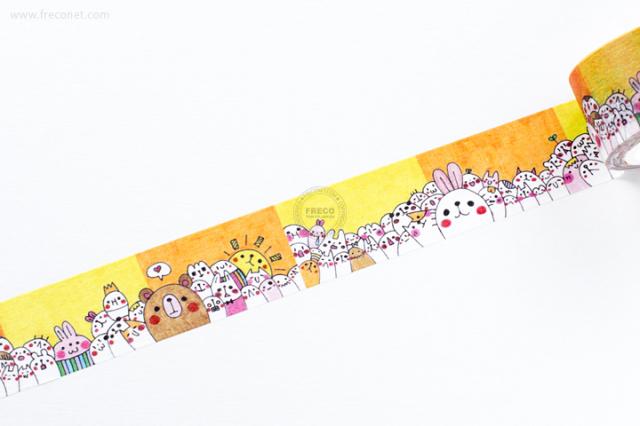 自己印マスキングテープ 永恆的樂園【宅急便配送】