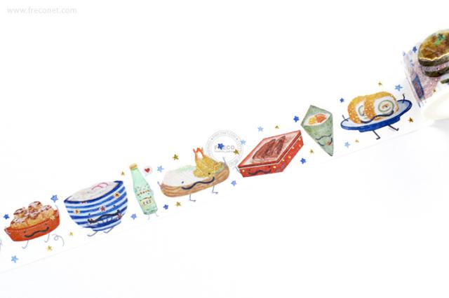 自己印マスキングテープ 來吃我吧日本料理【宅急便配送】
