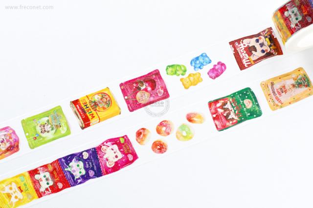 自己印マスキングテープ candy xmas【宅急便配送】