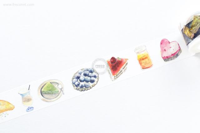 自己印マスキングテープ 甜點【宅急便配送】
