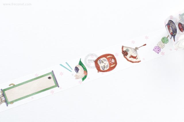 自己印マスキングテープ 和風貓【宅急便配送】