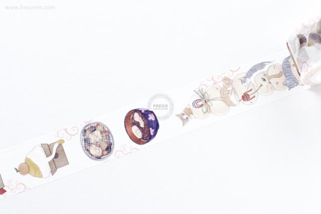 自己印マスキングテープ 疊疊貓【宅急便配送】