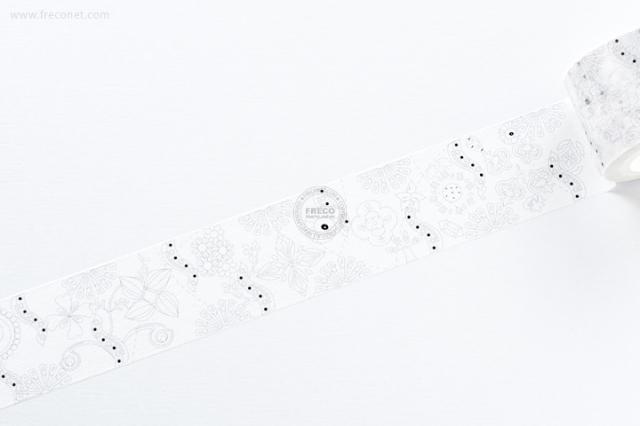 自己印マスキングテープ 花草【宅急便配送】