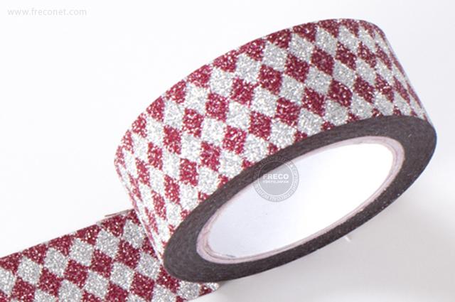 グリッターテープ ダイヤモンド/レッド(AR0817029)【ネコポスOK】