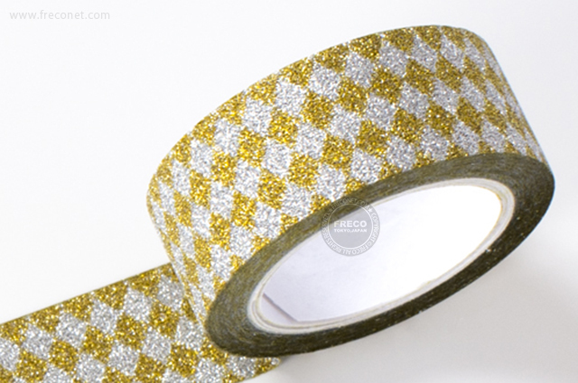 グリッターテープ ダイヤモンド/ゴールド(AR0817030)【ネコポスOK】