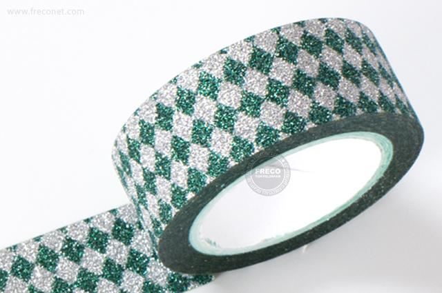 グリッターテープ ダイヤモンド/グリーン(AR0817031)【ネコポスOK】