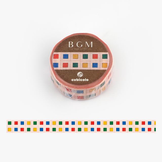 BGM クビコロマスキングテープ cubicolo01(BCM-CA001)【ネコポスOK】