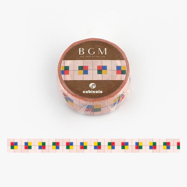 BGM クビコロマスキングテープ cubicolo02(BCM-CA002)【ネコポスOK】