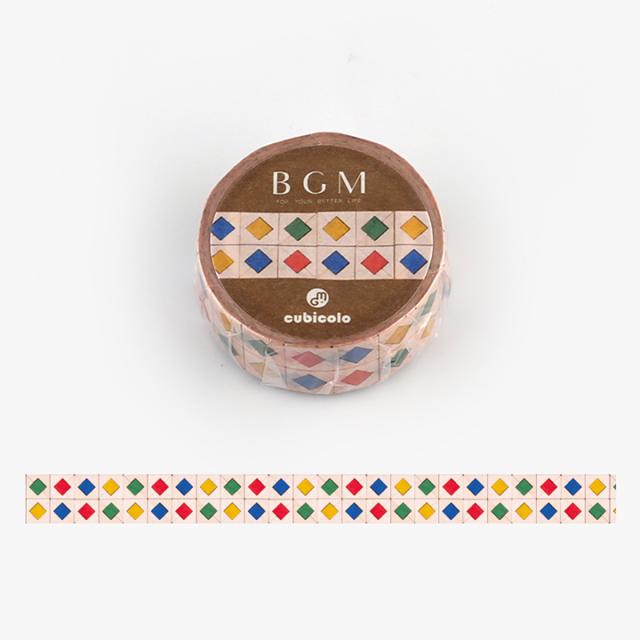 BGM クビコロマスキングテープ cubicolo03(BCM-CA003)【ネコポスOK】