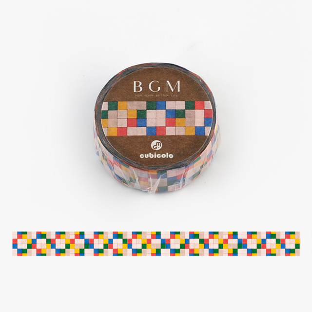 BGM クビコロマスキングテープ cubicolo04(BCM-CA004)【ネコポスOK】
