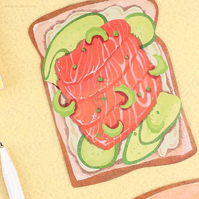 BGMメッセージカード(ダイカット/封筒付き) サーモントースト(BC-YTS03)【ネコポスOK】